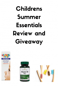 Childrens Summer Essentials Review and Giveaway