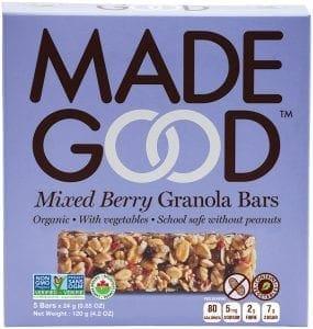 mixed berry granola bar