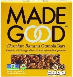chocolate banana granola bar