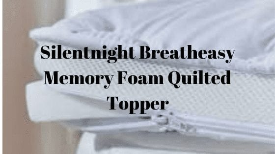 Silentnight Breatheasy Memory Foam Quilted Topper