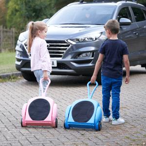 children pulling cargo