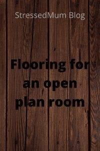 Flooring for an open plan room