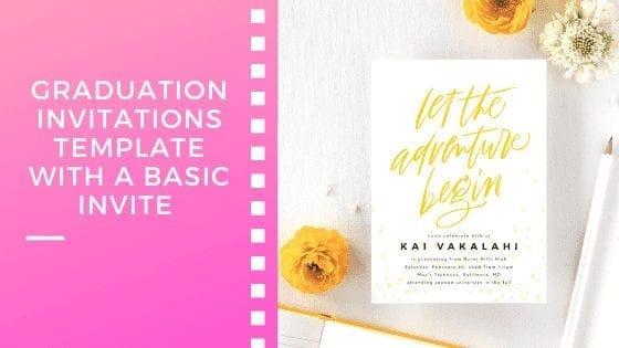 Graduation Invitations Template With A Basic Invite