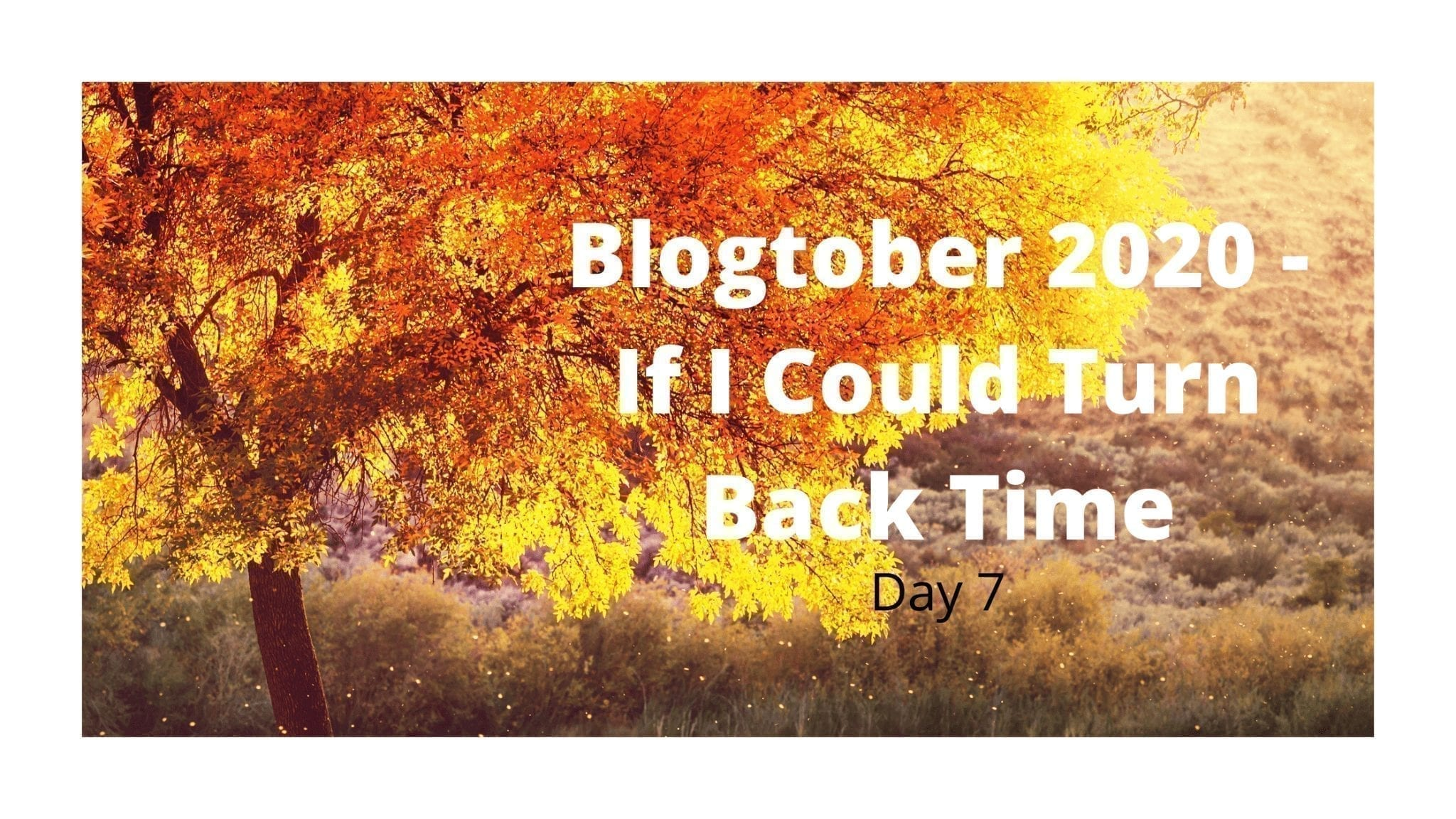Blogtober 2020 - If I Could Turn Back Time