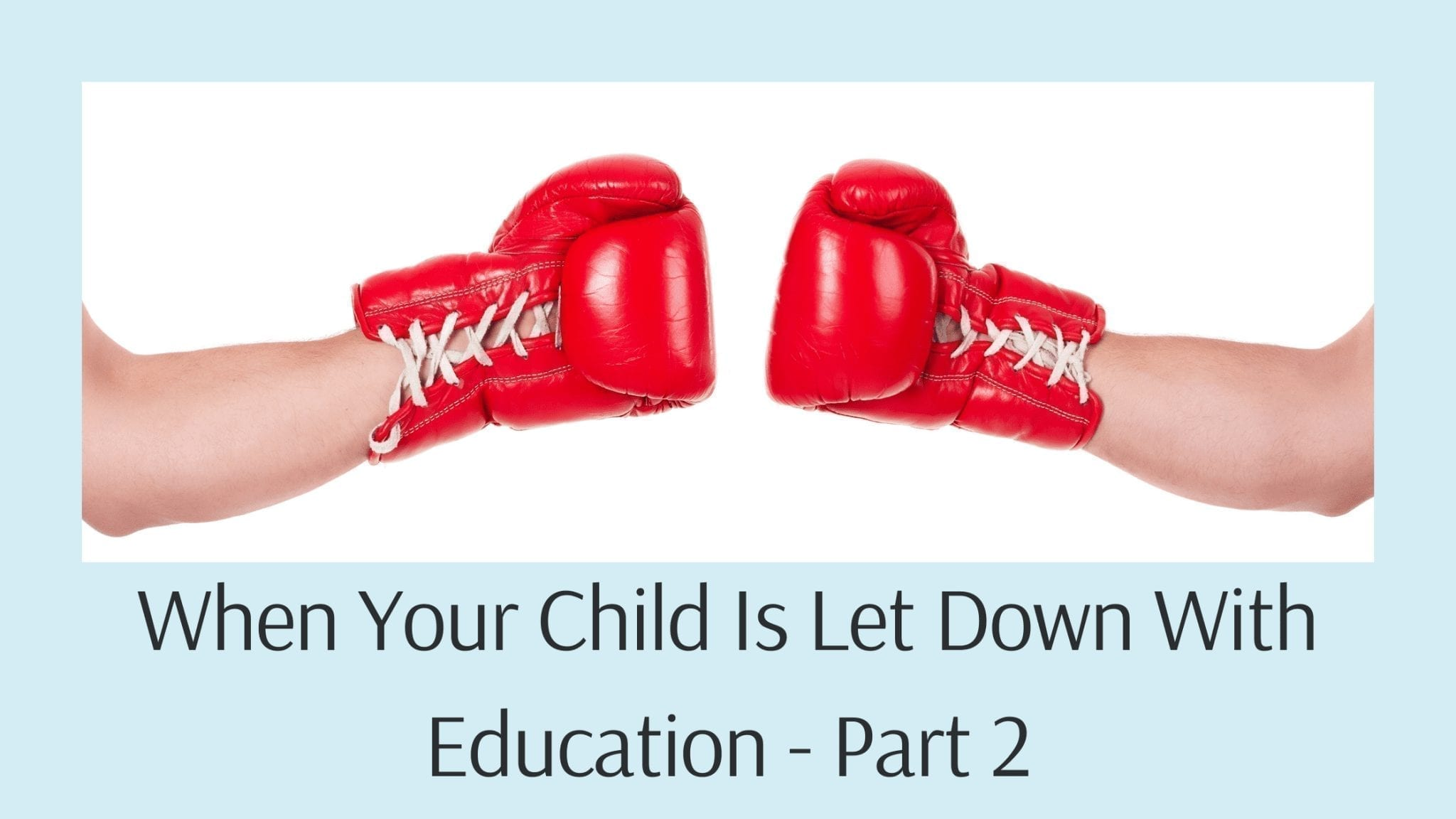 When Your Child Is Let Down With Education - Part 2
