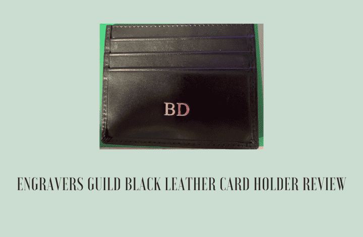 Engravers Guild Black Leather Card Holder Review